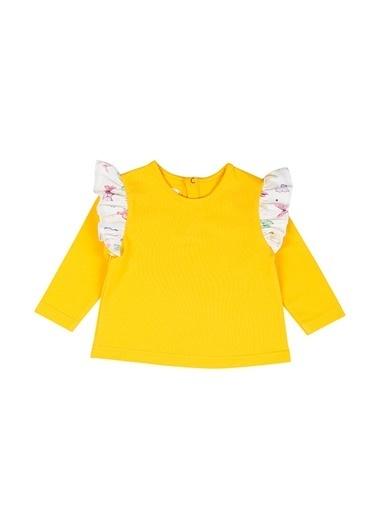 Nila Kids Hello Sunshine Organik Kız Bebek Uzun Kollu Tişört Sarı